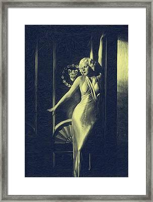 Jean Harlowe Framed Print by Dwayne  Graham