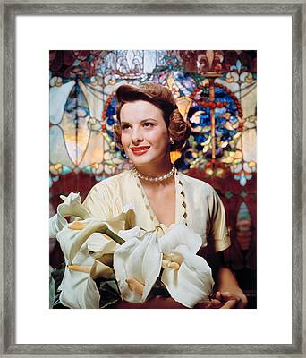 Jean Peters, 1950s Portrait Framed Print by Everett