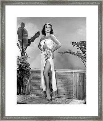 Jean Peters, Ca. Early 1950s Framed Print by Everett