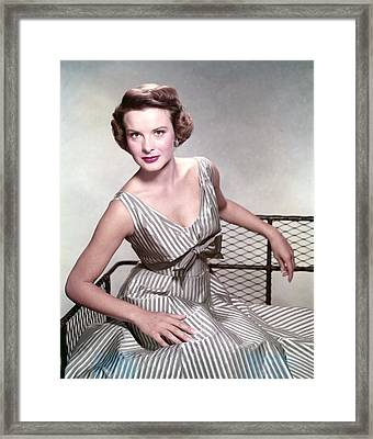 Jean Peters, In The Film, A Man Called Framed Print by Everett