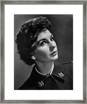 Jean Simmons, Ca. 1950s Framed Print by Everett