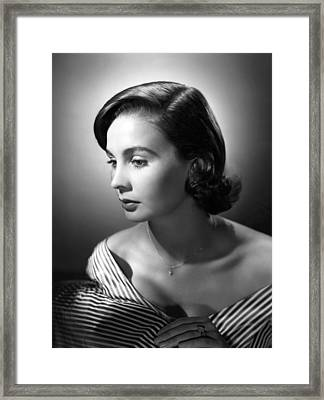 Jean Simmons, Mgm Portrait, Ca. 1953 Framed Print by Everett