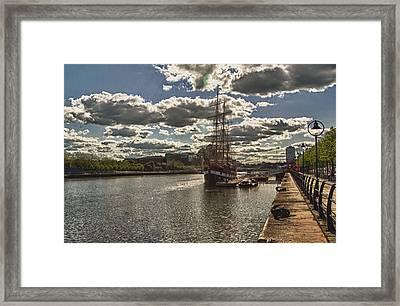 Jeanie Johnson Dublin Quays Ireland Framed Print by Joe Houghton