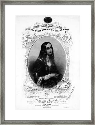 Jeanie With The Light Brown Hair, Song Framed Print by Everett