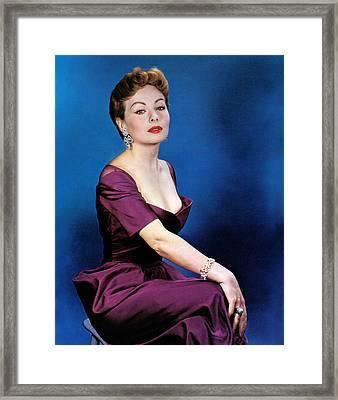Jeanne Crain, 1953 Framed Print