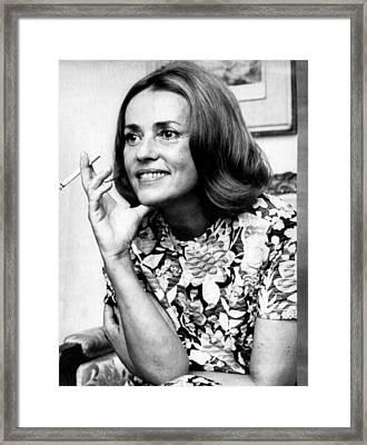 Jeanne Moreau, Ca. Late 1960s Framed Print by Everett