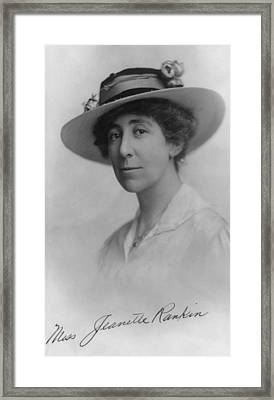 Jeannette Rankin 1880-1973, In 1916 Framed Print by Everett