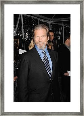 Jeff Bridges At Arrivals For Crazy Framed Print by Everett