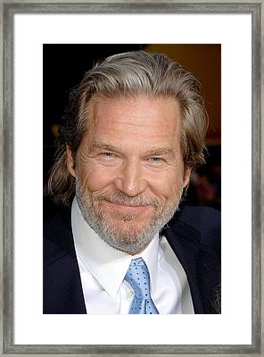Jeff Bridges At Arrivals For Premiere Framed Print by Everett