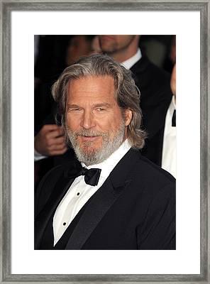 Jeff Bridges At Arrivals For The 83rd Framed Print by Everett