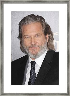 Jeff Bridges At Arrivals For True Grit Framed Print by Everett