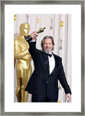 Jeff Bridges, Best Actor For Crazy Framed Print