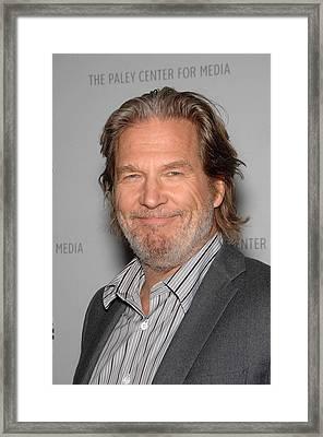 Jeff Bridges In Attendance For American Framed Print by Everett