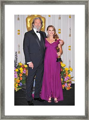 Jeff Bridges, Natalie Portman, Best Framed Print
