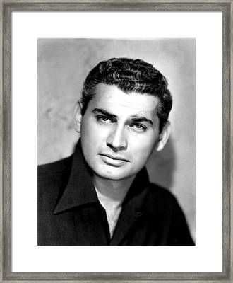 Jeff Chandler, Ca. 1949 Framed Print by Everett