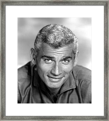 Jeff Chandler, Ca. Late 1950s Framed Print by Everett