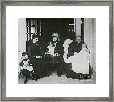 Jefferson Davis With Family Framed Print