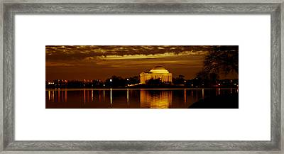 Jefferson Memorial - Panoramic Framed Print by David Hahn