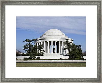 Jefferson Memorial - Washington Dc Framed Print by Brendan Reals