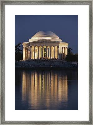 Jefferson Memorial, Night View Framed Print by Richard Nowitz