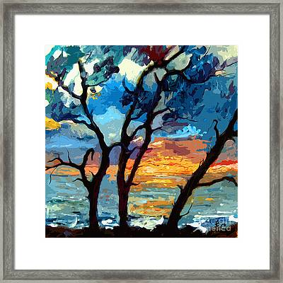 Jekyll Island Sunrise Painting Framed Print
