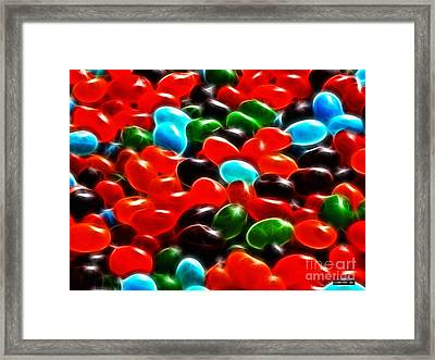 Jelly Beans Framed Print by Methune Hively