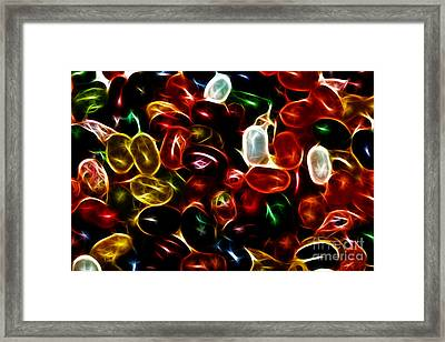 Jelly Belly - Electric Framed Print by Wingsdomain Art and Photography