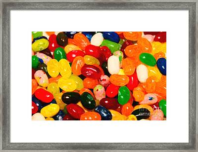 Jelly Belly - Painterly Framed Print by Wingsdomain Art and Photography