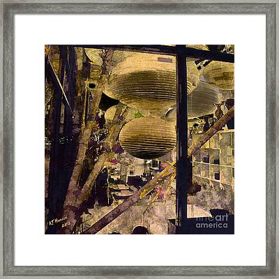 Jelly Fish Framed Print by Arne Hansen