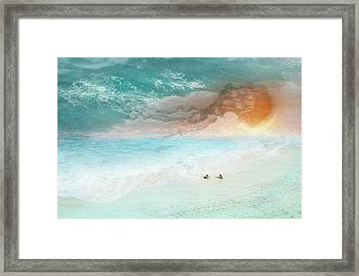 Jelly Sun Framed Print