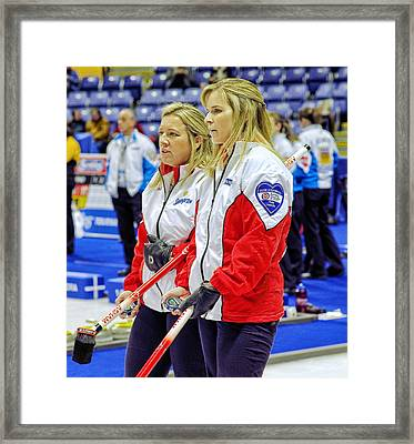 Jennifer And Cathy Framed Print by Lawrence Christopher