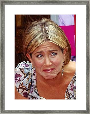 Jennifer Aniston At A Public Appearance Framed Print by Everett