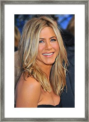 Jennifer Aniston At Arrivals For Just Framed Print
