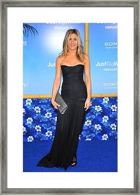 Jennifer Aniston Wearing A Dolce Framed Print