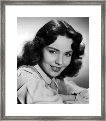 Jennifer Jones, 1945 Framed Print by Everett