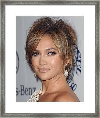 Jennifer Lopez At Arrivals For 32nd Framed Print by Everett