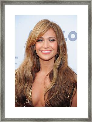 Jennifer Lopez At Arrivals For Apollo Framed Print by Everett
