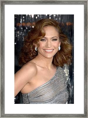 Jennifer Lopez At Arrivals For The Framed Print by Everett