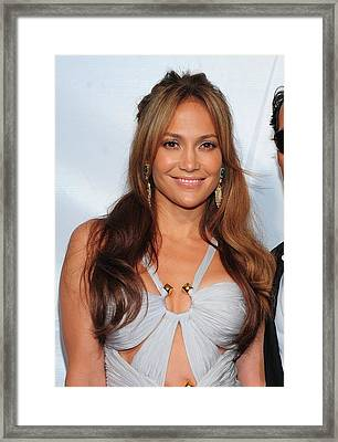 Jennifer Lopez Wearing An Emilio Pucci Framed Print by Everett