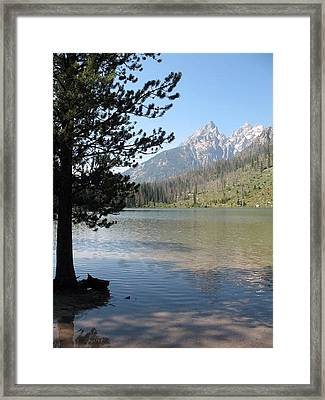 Framed Print featuring the photograph Jenny Lake And The Beauty Of The Grand Tetons by Shawn Hughes