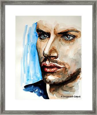 Jensen Ackles Framed Print by Francoise Dugourd-Caput