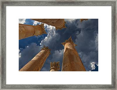 Framed Print featuring the photograph Jerash by David Gleeson