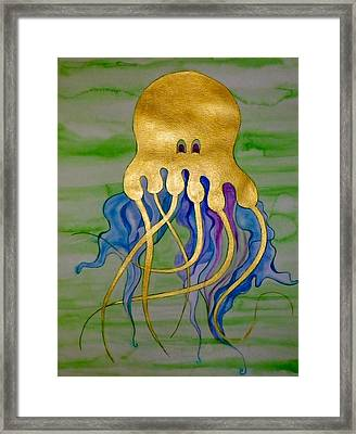 Jeremiah The Jellyfish Framed Print by Erika Swartzkopf