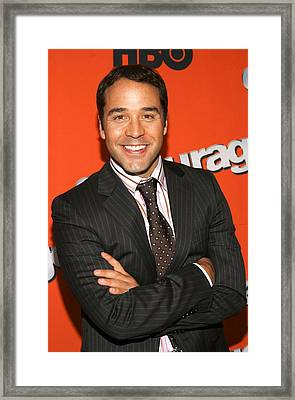 Jeremy Piven At Arrivals For Hbo Season Framed Print by Everett