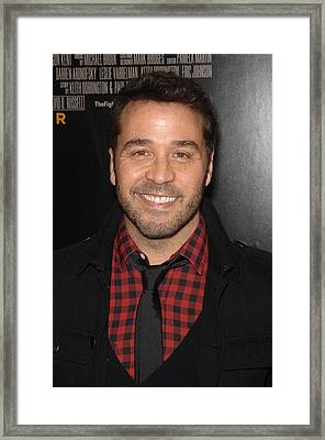 Jeremy Piven At Arrivals For The Framed Print by Everett