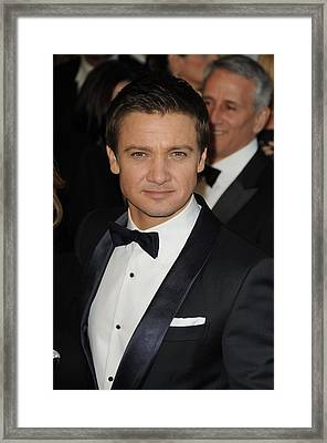Jeremy Renner At Arrivals For The 83rd Framed Print by Everett