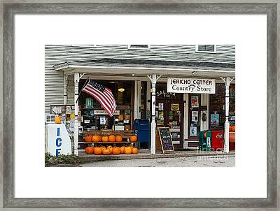 Jericho Center Country Store Framed Print by Diane E Berry