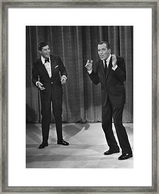 Jerry Lewis, And Ed Sullivan, Circa Framed Print by Everett