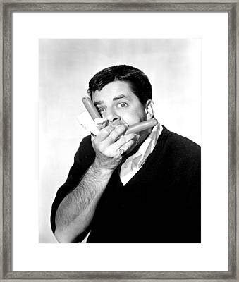 Jerry Lewis, Portrait Framed Print by Everett