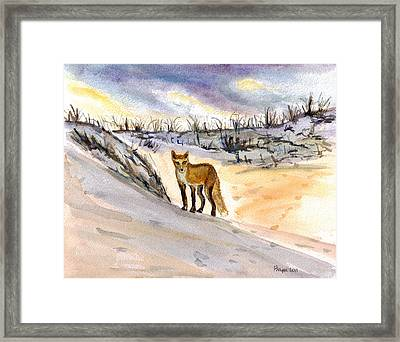 Framed Print featuring the painting Jersey Shore Fox by Clara Sue Beym